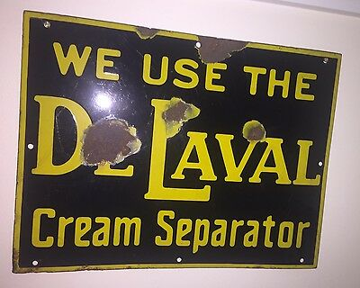De Laval Cream Separator Porcelain Sign Farm Antique Kitchen Rare
