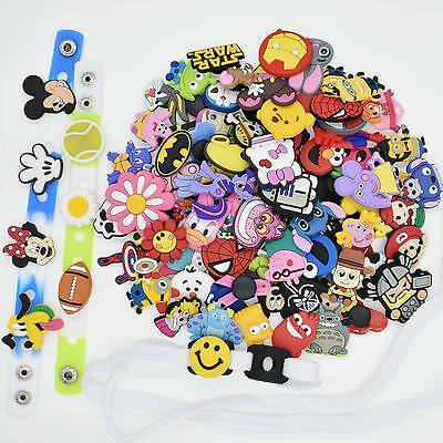 100PCS PVC Random Shoe Charms For Fit Jibitz Croc/Wristbands Bracelet/Shoe Lace