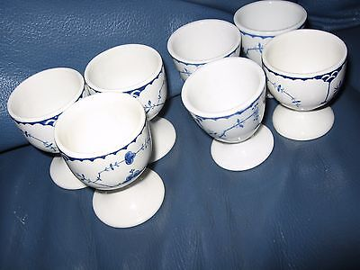 Vintage Denmark Furnivals Limited England Pottery 7 Egg Cups Look Unused
