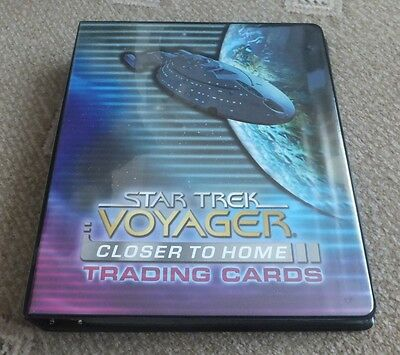 Star Trek Voyager Closer to Home Trading Cards Binder and Cards