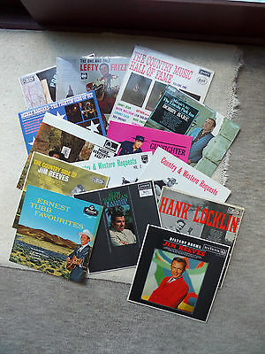 Job Lot of Vintage VINYL LP ALBUMS x 14 Country & Western Music VARIOUS MIXTURE
