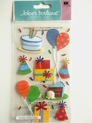 JOLEE'S BOUTIQUE STICKERS - BIRTHDAY CELEBRATION cake party