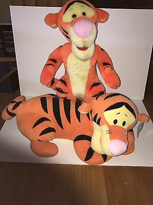 "2 Jumbo Disney Tigger Plush 21"" Winnie The Pooh Giant Large Laying Down Pillow"