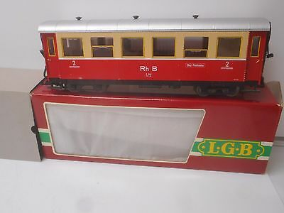 LGB 3064 RHB Passenger Car Lighted Interior, Metal Gary Raymond Wheels G Scale