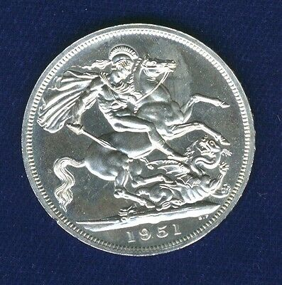 Great Britain / England  George Vi  1951  1 Crown Coin, Prooflike!