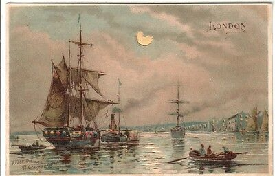 Hold to Light - Ships on the Thames, London - Moonlight