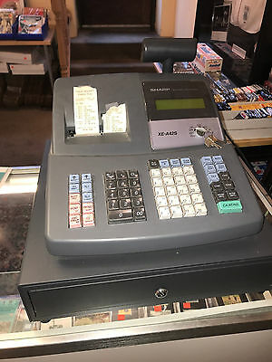 Sharp XE-A42S Cash Register w/ Manual & Keys. Works Fine. LOCAL PICK UP ONLY!!!