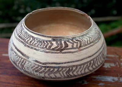 Authentic 3000 BC Artifact Painted Pottery Bowl Artifact Time Of Moses
