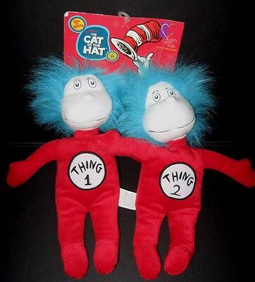Kohl's Cares for Kids Dr Seuss Thing 1 2 Cat in the Hat Plush Stuffed Animal Toy