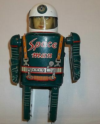Japan Modern Toys Tin Space Man, 1950's Toy Parts
