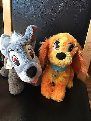 Lady And The Tramp Soft Toys Disney Parks In Good Condition