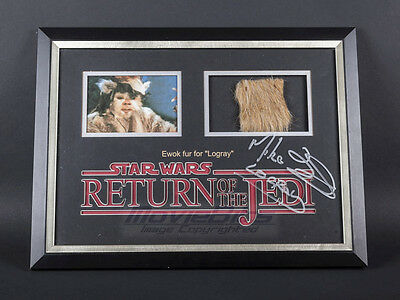 Return of the Jedi - Logray Ewok Fur, Mike Edmonds Autographed Display