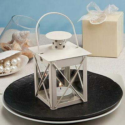 Love Lights the Way Metal Lanterns (Ivory) - Wedding Party Favor - 16-72 Qty