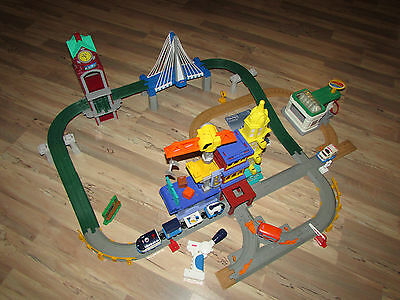 Fisher Price Geotrax Big City Lights Super Set Track Remote & Train - COMPLETE