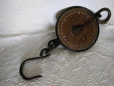 Vintage Salters Spring Balance Scales 56Lb - Brass Dial