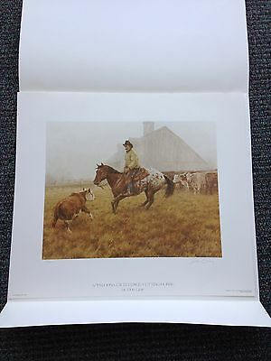 """Cutting Thru The Fog"" Don Gray 1983 Appaloosa Excellent Stamp Print"
