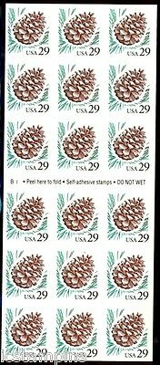 #2491a 29c Pine Cone B1 Convertible Booklet of 18