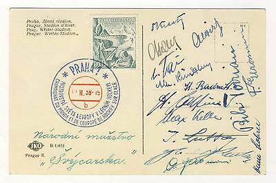 1938 IIHF WORLD Ice HOCKEY Championships AUTOGRAPHS SWISS TEAM Switzerland