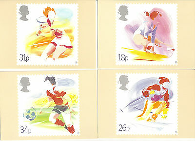 Great Britain - Sports - Phq Card #109 - Set Of 4 - 1988