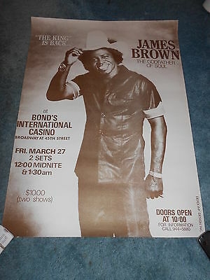 James Brown Original Concert Poster Rolled Unused!!!