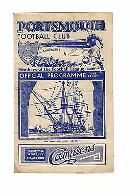 Portsmouth v Crystal Palace 5.5.1945 Friendly