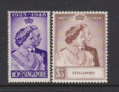 Singapore 1948 Kgvi Silver Wedding Set Once Hinged Mint