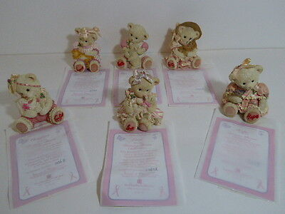 Charming Hamilton Bears Promise Bears Collection Set Of Six All with COA