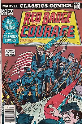 1976 Marvel Classic Comics Red Badge of Courage Comic Book #10