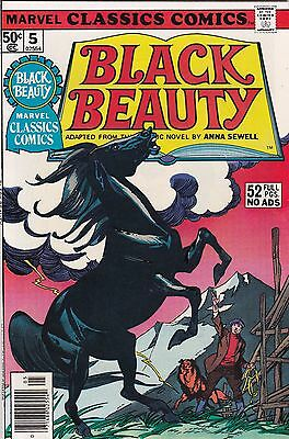 1976 Marvel Classic Comics Black Beauty Comic Book #5