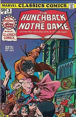 1976 Marvel Classic Comics The Hunchback of Notre Dame Comic Book #3