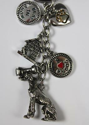 LITTLEGIFTS Greyhound Dog Key Chain with Charms