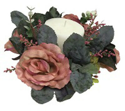 Candle rings silk wedding handmade flower rose tabletop centerpieces candle rings many colors wedding party centerpieces silk flowers roses vintage mightylinksfo