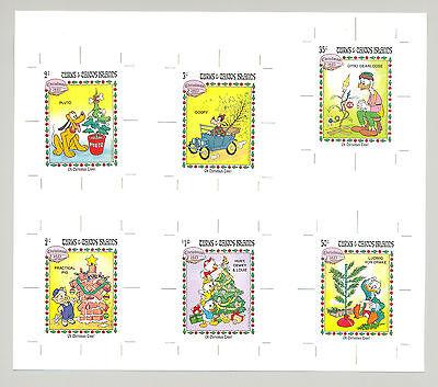 Turks & Caicos 1983 Christmas 9v & 1v S/S on 3v Imperf Proofs