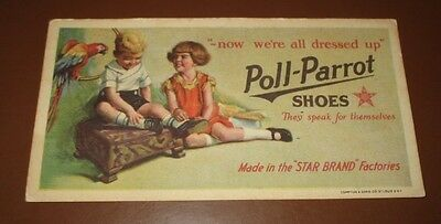 Vintage Poll-Parrot Shoes Now We're All Dressed Up Blotter Card Colorful