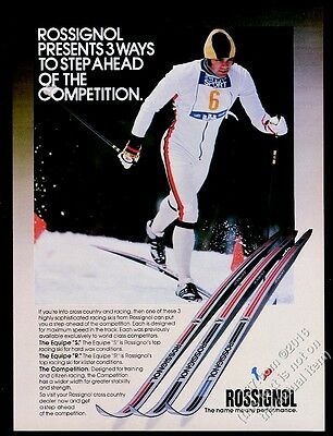 1978 Rossignol Equipe S R Competition corss country skis photo vintage print ad