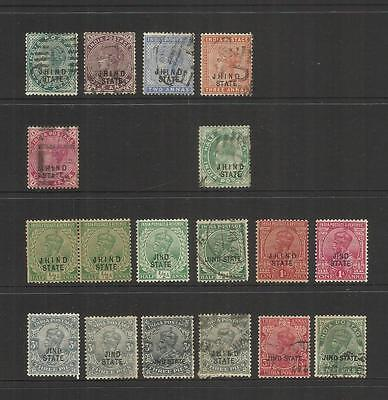 India Convention State Of Jind ~ 1886-1937 Definitive Issues (Part Sets)Service