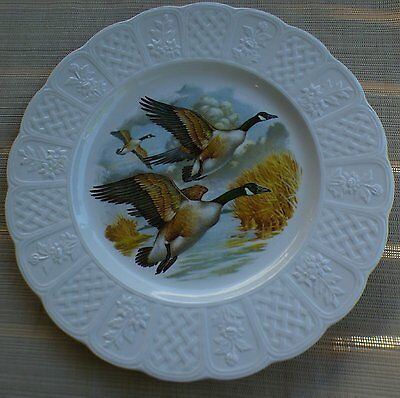 Decorative plate geese flying LIVERPOOL RD. POTTERY Stoke on Trent England