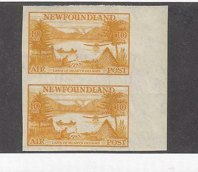 NEWFOUNDLAND # C14a VF-MNH 10cts IMPERF PAIR LAND OF HEARTS DELIGHT CAT VAL $400