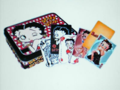 Betty Boop Two Deck Of Cards In Metal Tin New