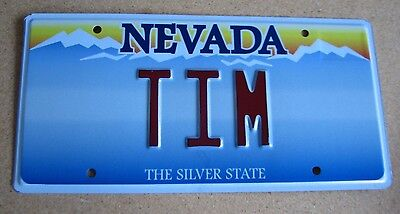 "NEVADA Vanity License Plate "" TIM "" TIMMIE TIMMY  TIMOTHY TIMBO  NV"