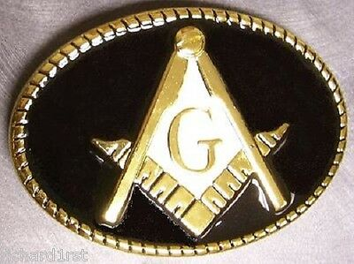 Pewter Belt Buckle fraternal Freemasonry Mason Masonic NEW