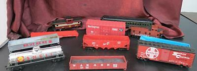 Lot of 11 HO Train Cars For Parts or Repair