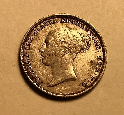 GREAT BRITAIN - Queen Victoria - Sixpence - 1839 - Young Head Silver Coin