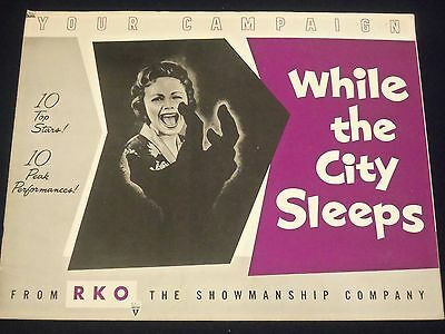 1956 While The City Sleeps Movie Campaign Book Dana Andrews & Fleming - P 24