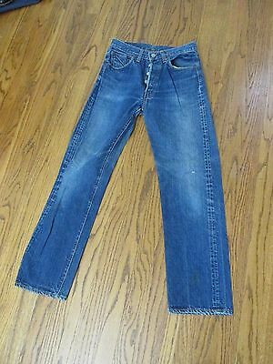 Vtg Levi 501 Big E Jeans 1960's #2 Button USA MADE