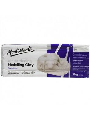 Mont Marte Air Hardening Modelling Clay - White 2kg