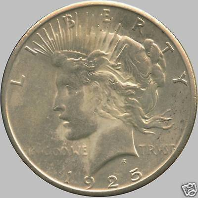 """1925 United States Silver """"Peace"""" Dollar (26.73 Grams .900 Silver)"""