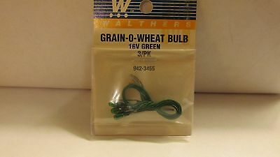 Walthers Grain-o-Wheat Bulb 16v clear 3-pack 942-3455 new in package