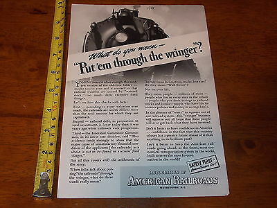 1938 Advertisment Association Of American Railroads Safety First Airport Coke