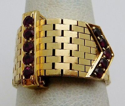Vintage CARTIER 18k Yellow Gold / Ruby Ladies Ring